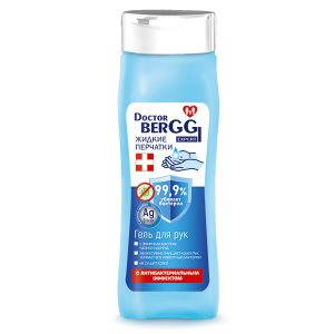 """Гель для рук DoctorBerggi с антибактериальным эффектом """"Жидкие перчатки"""" эфирное масло чайного дерева 250 мл"""
