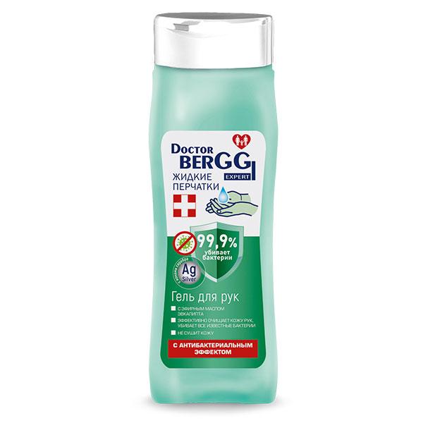 """Гель для рук DoctorBerggi с антибактериальным эффектом """"Жидкие перчатки"""" эфирное масло эвкалипта 250 мл"""