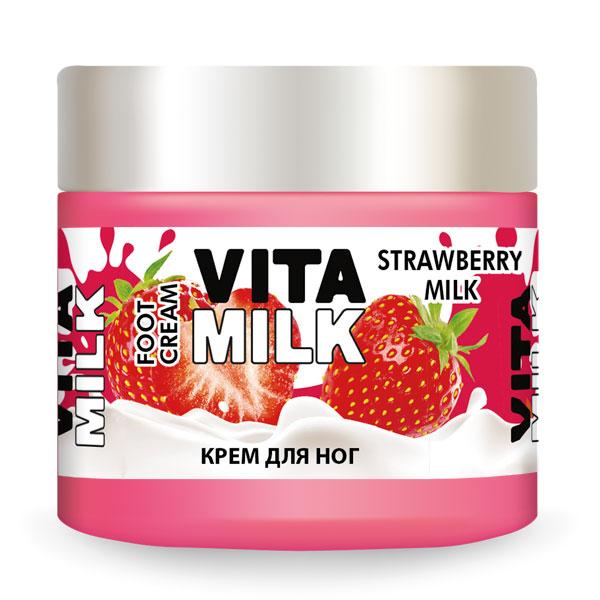 Крем для ног VITAMILK Клубника и молоко 150 мл