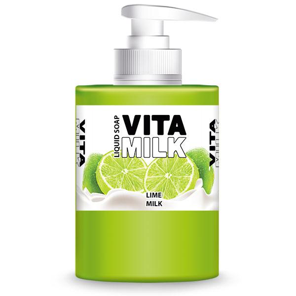 Мыло жидкое VitaMilk Лайм и молоко 300 мл