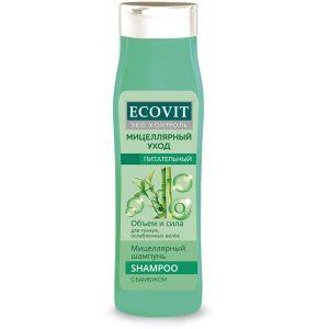 """Шампунь питательный ECOandVIT для тонких, ослабленных волос, """"Мицеллярный"""" 400 мл"""
