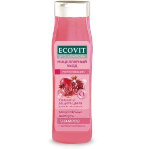 """Шампунь укрепляющий ECOandVIT для всех типов волос, """"Мицеллярный"""" 400 мл"""