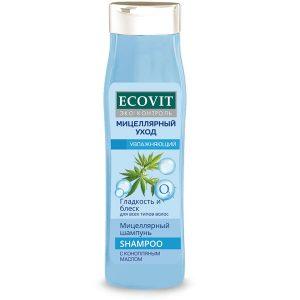 """Шампунь увлажняющий ECOandVIT для всех типов волос, """"Мицеллярный"""" 400 мл"""