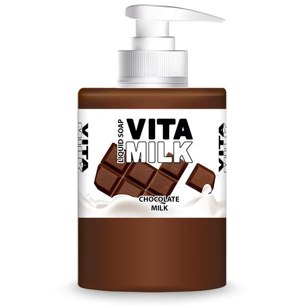 Мыло жидкое VitaMilk Шоколад и молоко 300 мл