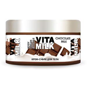 Крем-суфле для тела VitaMilk <br> Шоколад и молоко<br> 250 мл