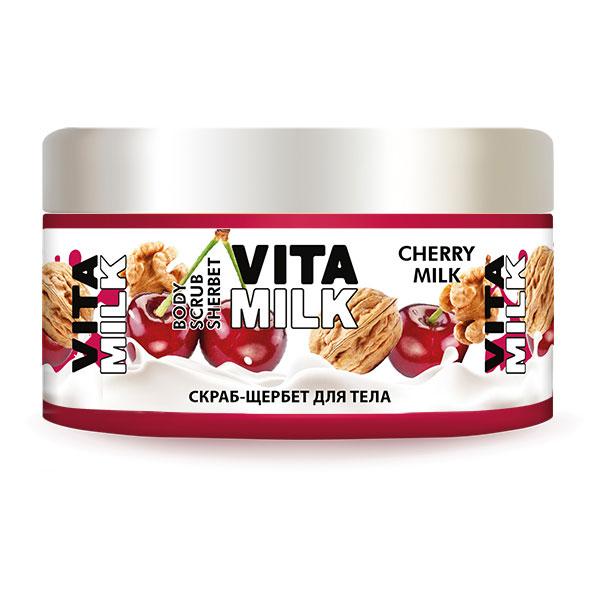 Скраб-Щербет VitaMilk Вишня и молоко 250 мл